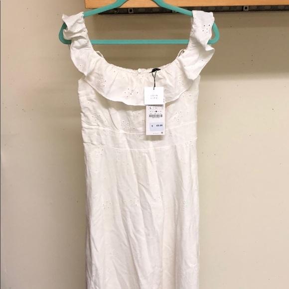 Zara Dresses & Skirts - White Zara dress, new with tags on.